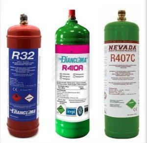 gas refrigerante utilizzato per le ricariche gas su condizionatori di ogni marchio