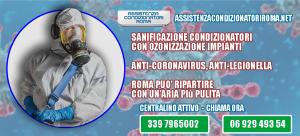 sanificazione con ozonizzazione condizionatore roma