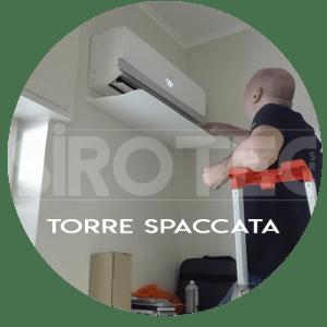 assistenza condizionatori torre spaccata